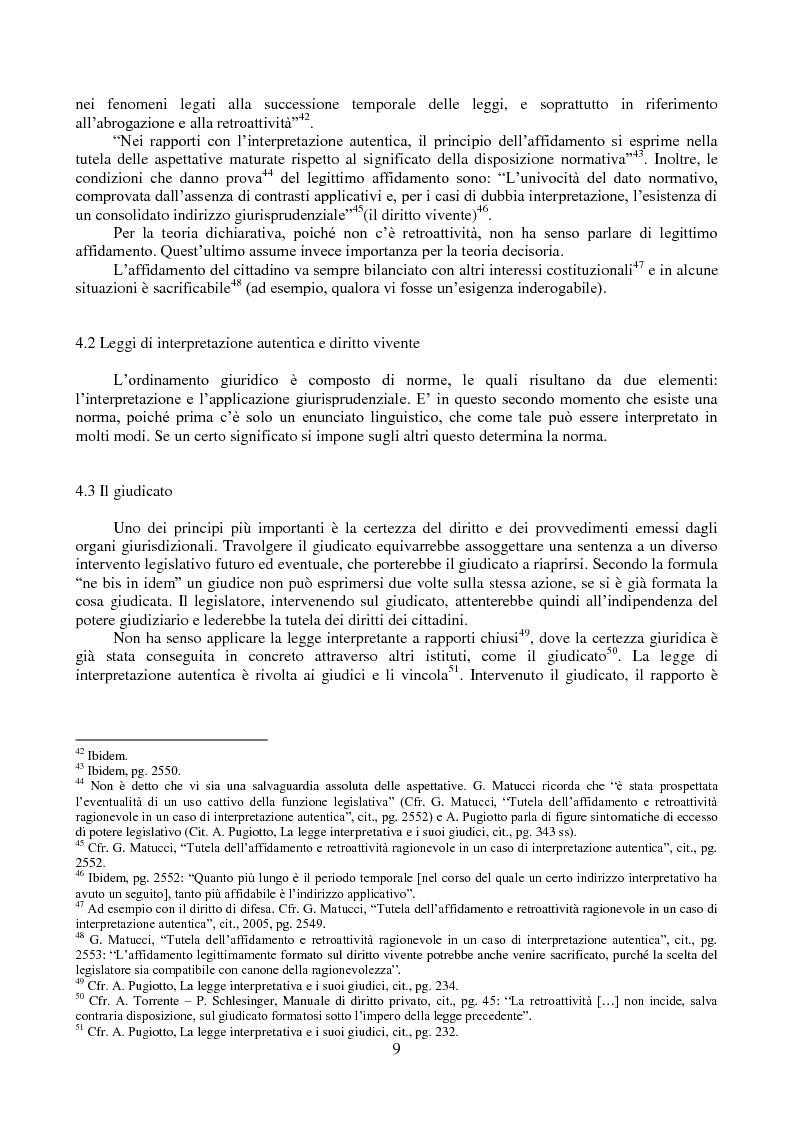 Anteprima della tesi: L'interpretazione autentica nella giurisprudenza costituzionale recente, Pagina 10