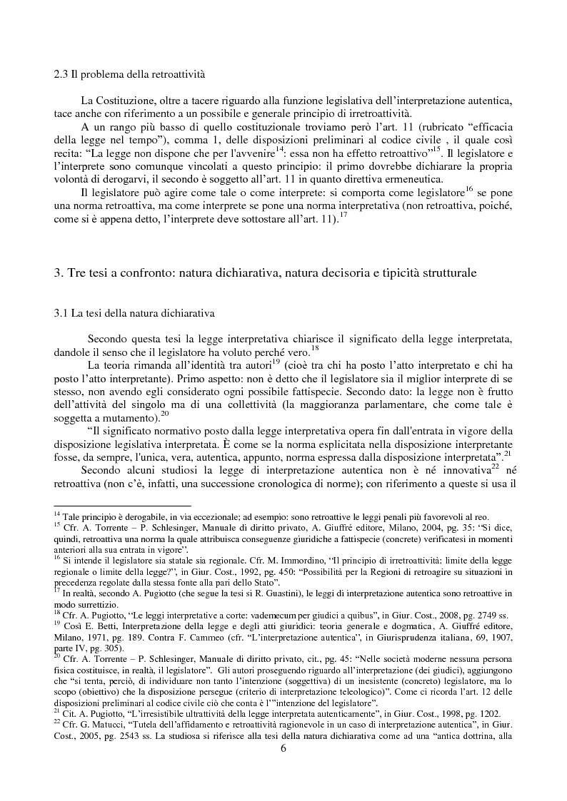 Anteprima della tesi: L'interpretazione autentica nella giurisprudenza costituzionale recente, Pagina 7