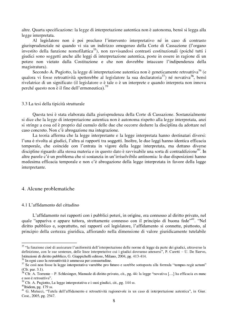 Anteprima della tesi: L'interpretazione autentica nella giurisprudenza costituzionale recente, Pagina 9