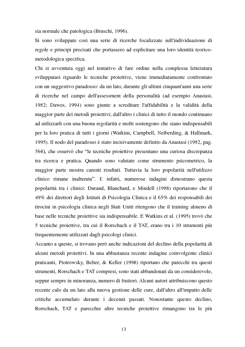 Anteprima della tesi: Studio esplorativo degli aspetti narrativi nel TAT valutati tramite la griglia di codifica ORT-EF, Pagina 10