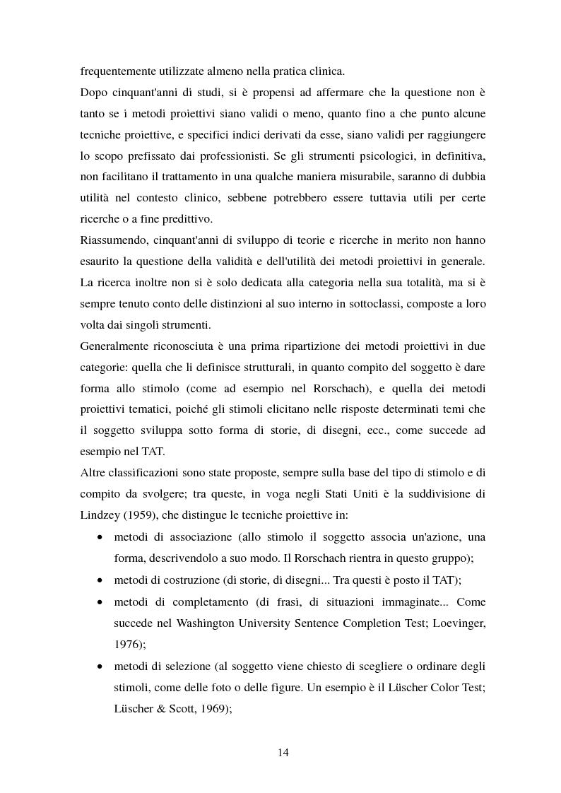 Anteprima della tesi: Studio esplorativo degli aspetti narrativi nel TAT valutati tramite la griglia di codifica ORT-EF, Pagina 11