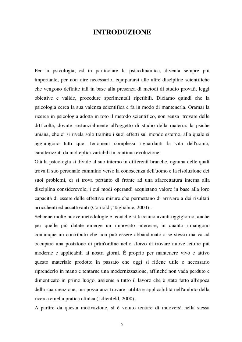 Anteprima della tesi: Studio esplorativo degli aspetti narrativi nel TAT valutati tramite la griglia di codifica ORT-EF, Pagina 2