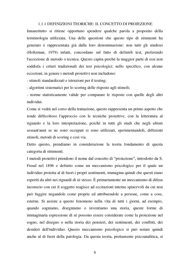 Anteprima della tesi: Studio esplorativo degli aspetti narrativi nel TAT valutati tramite la griglia di codifica ORT-EF, Pagina 5