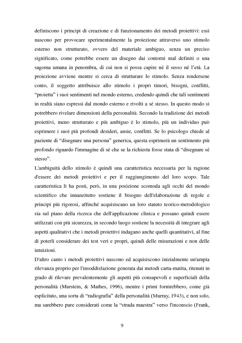 Anteprima della tesi: Studio esplorativo degli aspetti narrativi nel TAT valutati tramite la griglia di codifica ORT-EF, Pagina 6