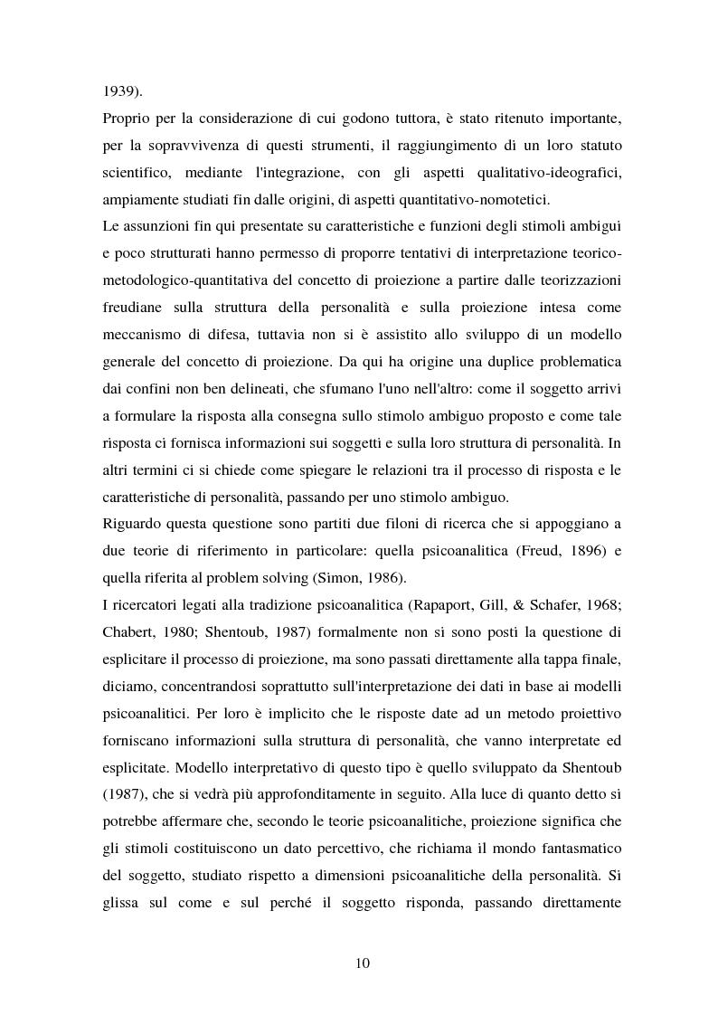 Anteprima della tesi: Studio esplorativo degli aspetti narrativi nel TAT valutati tramite la griglia di codifica ORT-EF, Pagina 7
