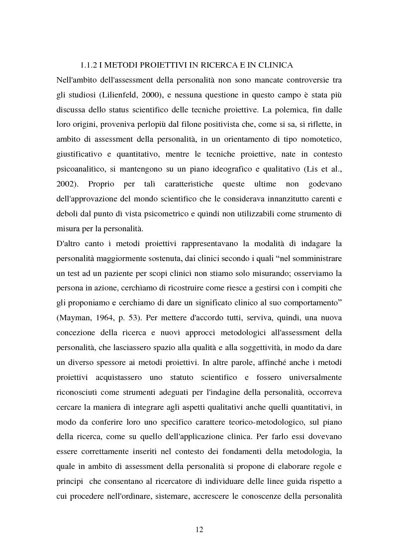 Anteprima della tesi: Studio esplorativo degli aspetti narrativi nel TAT valutati tramite la griglia di codifica ORT-EF, Pagina 9