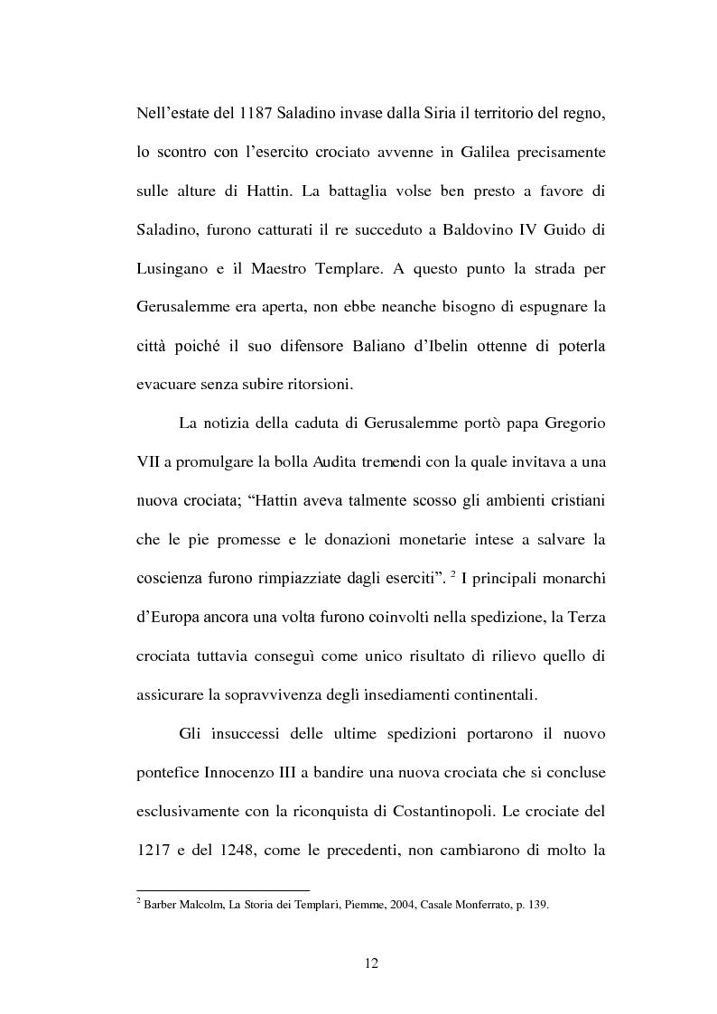 Anteprima della tesi: I Templari tra Storia e Mito, Pagina 10