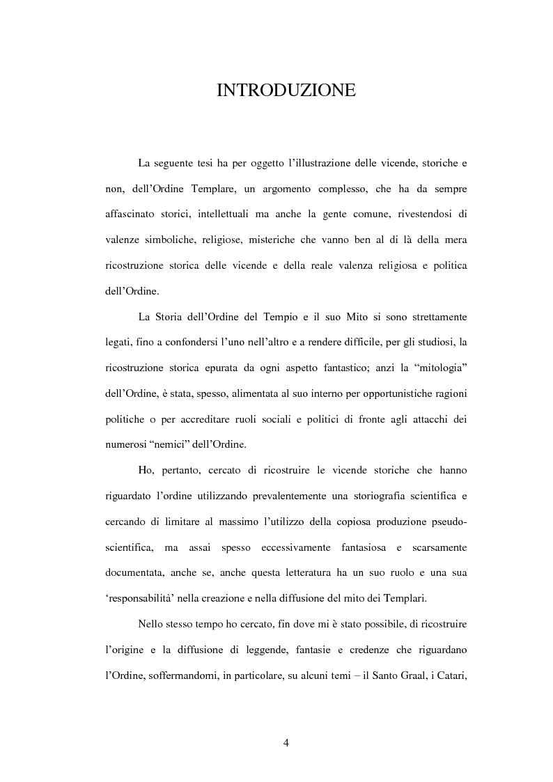 Anteprima della tesi: I Templari tra Storia e Mito, Pagina 2