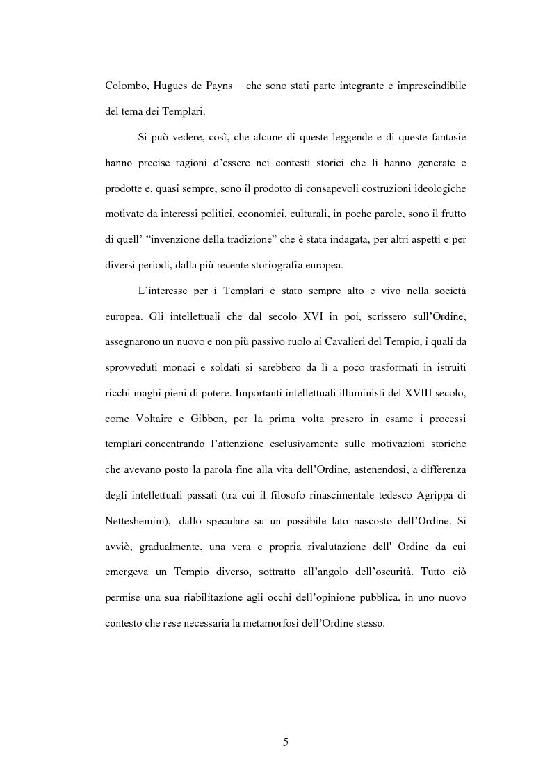 Anteprima della tesi: I Templari tra Storia e Mito, Pagina 3