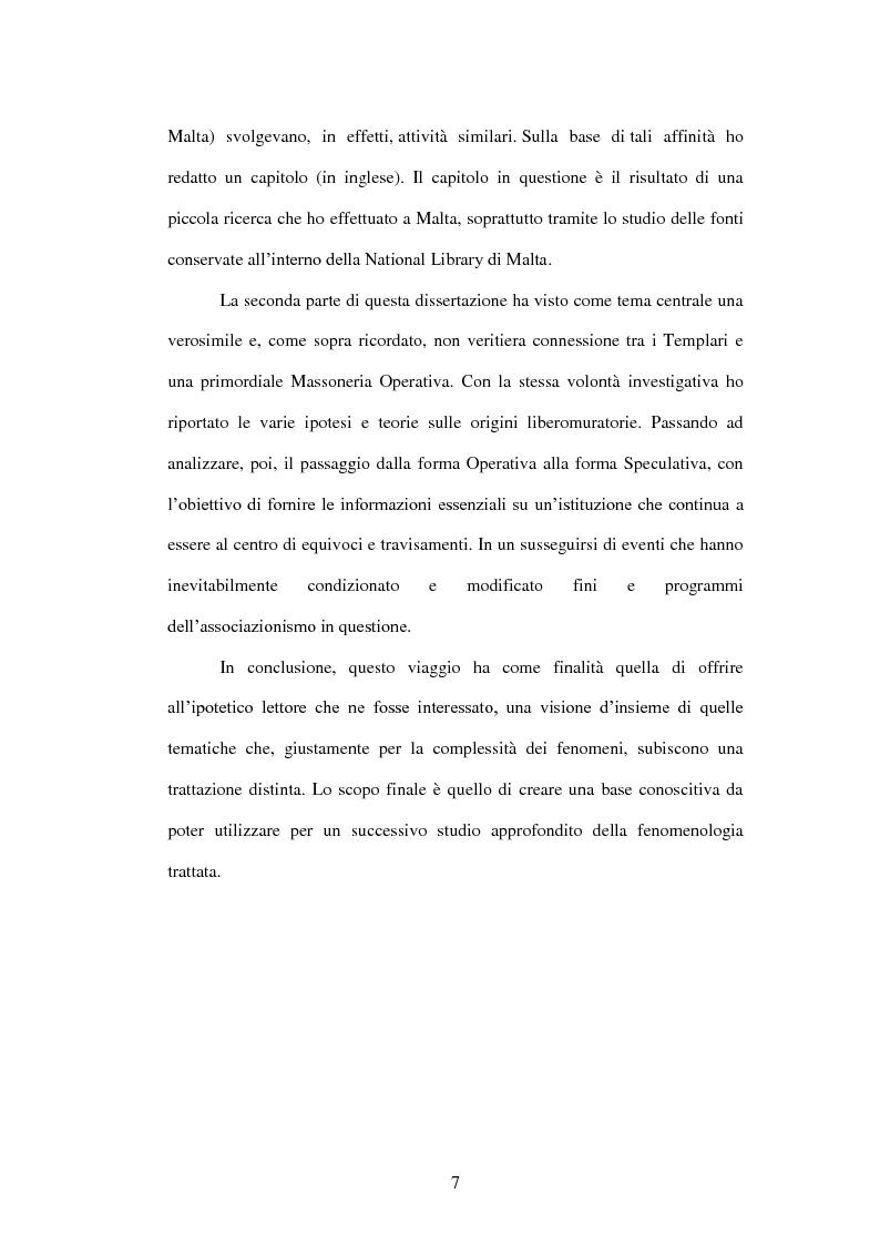Anteprima della tesi: I Templari tra Storia e Mito, Pagina 5