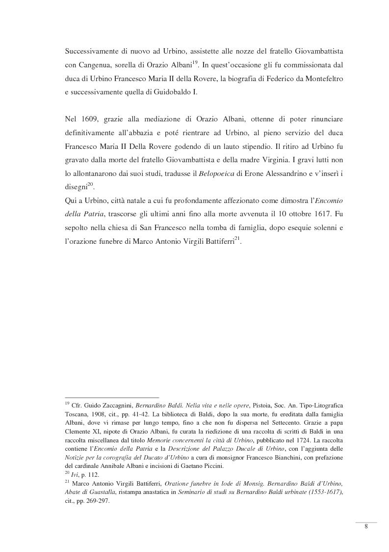 Anteprima della tesi: Bernardino Baldi: una fonte per il collezionismo in età moderna, Pagina 10