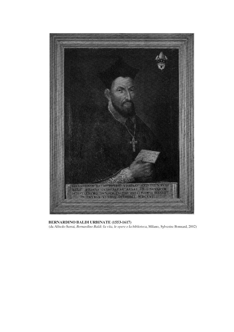 Anteprima della tesi: Bernardino Baldi: una fonte per il collezionismo in età moderna, Pagina 2