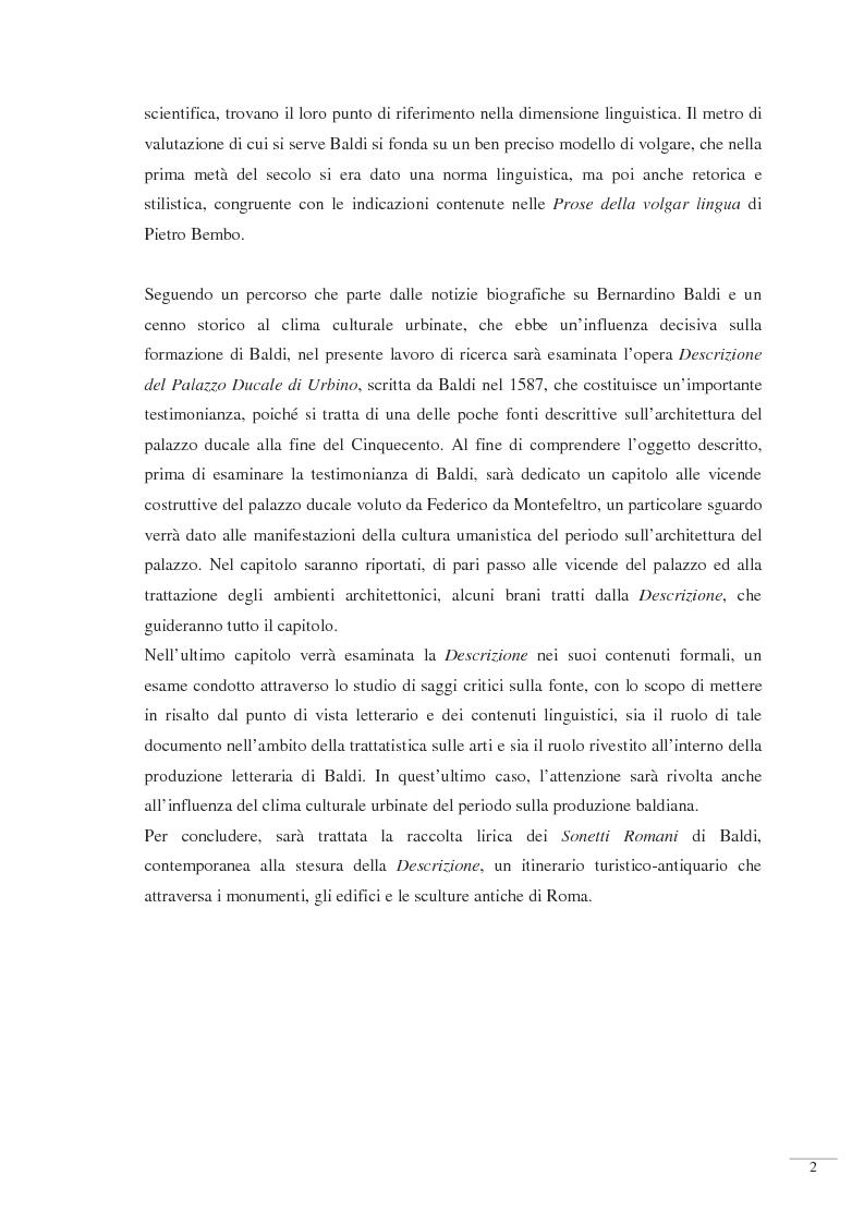 Anteprima della tesi: Bernardino Baldi: una fonte per il collezionismo in età moderna, Pagina 4