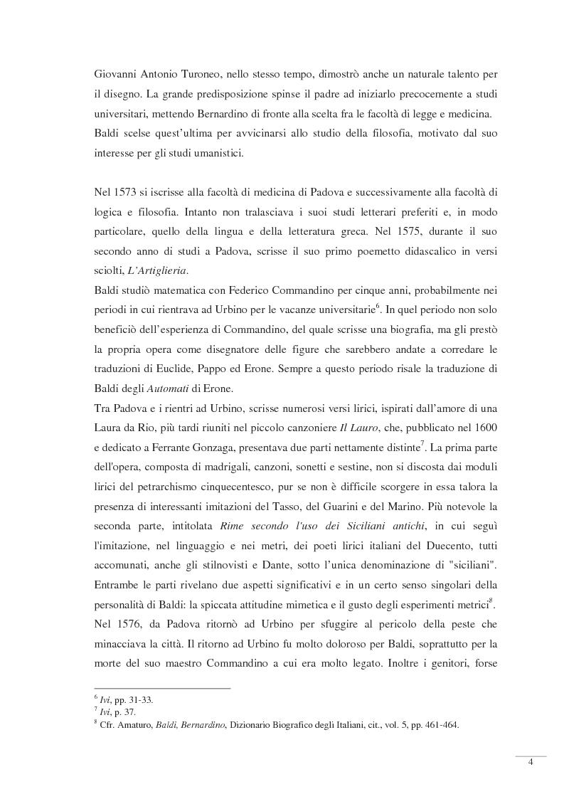 Anteprima della tesi: Bernardino Baldi: una fonte per il collezionismo in età moderna, Pagina 6