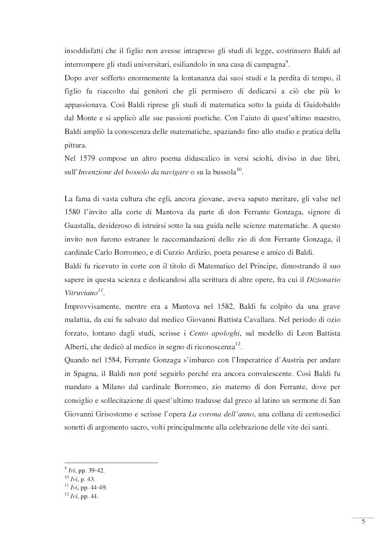 Anteprima della tesi: Bernardino Baldi: una fonte per il collezionismo in età moderna, Pagina 7