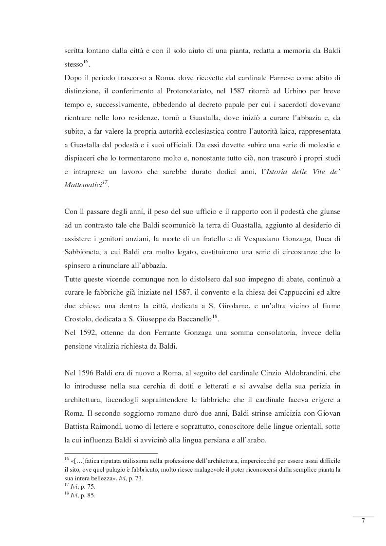Anteprima della tesi: Bernardino Baldi: una fonte per il collezionismo in età moderna, Pagina 9