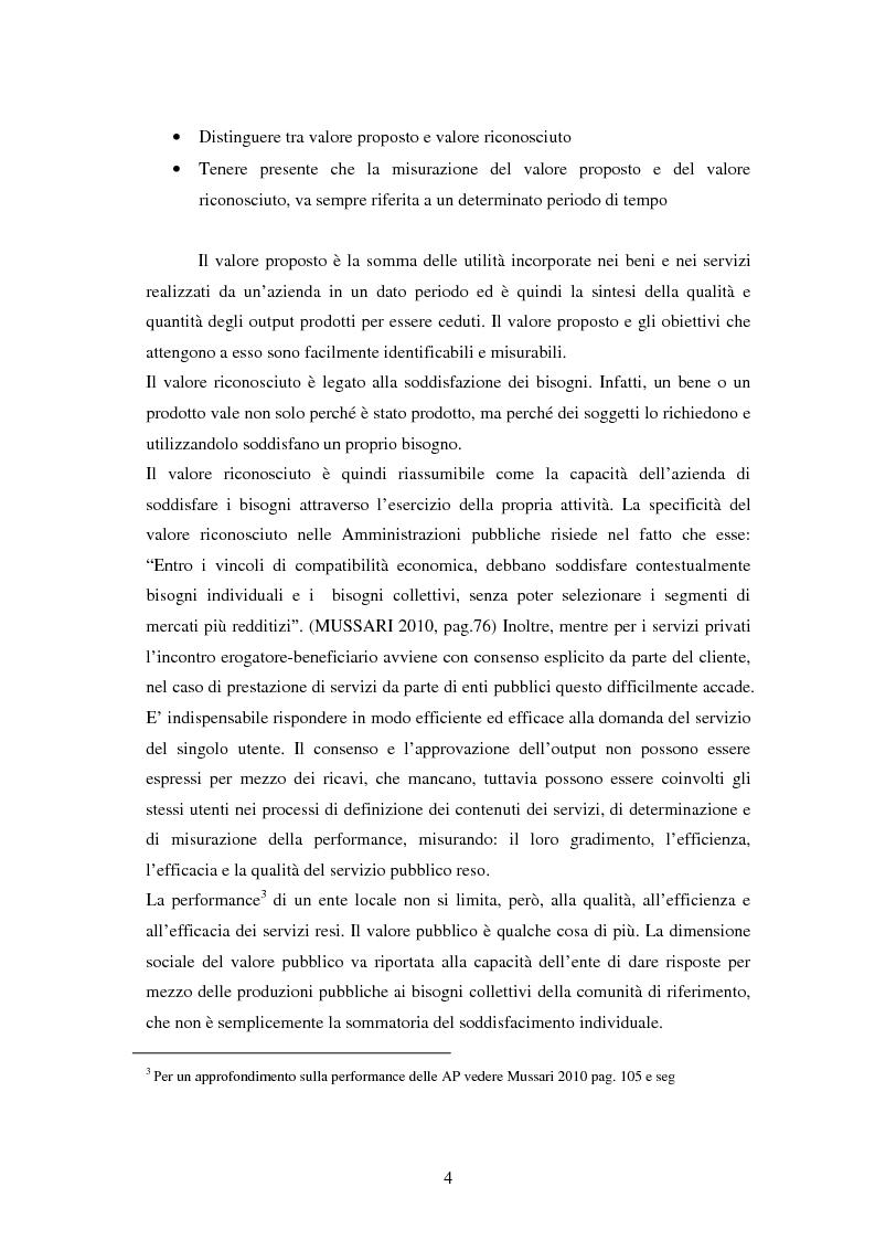 Anteprima della tesi: Il controllo di gestione negli enti locali. Il caso del comune di Selvazzano Dentro., Pagina 5