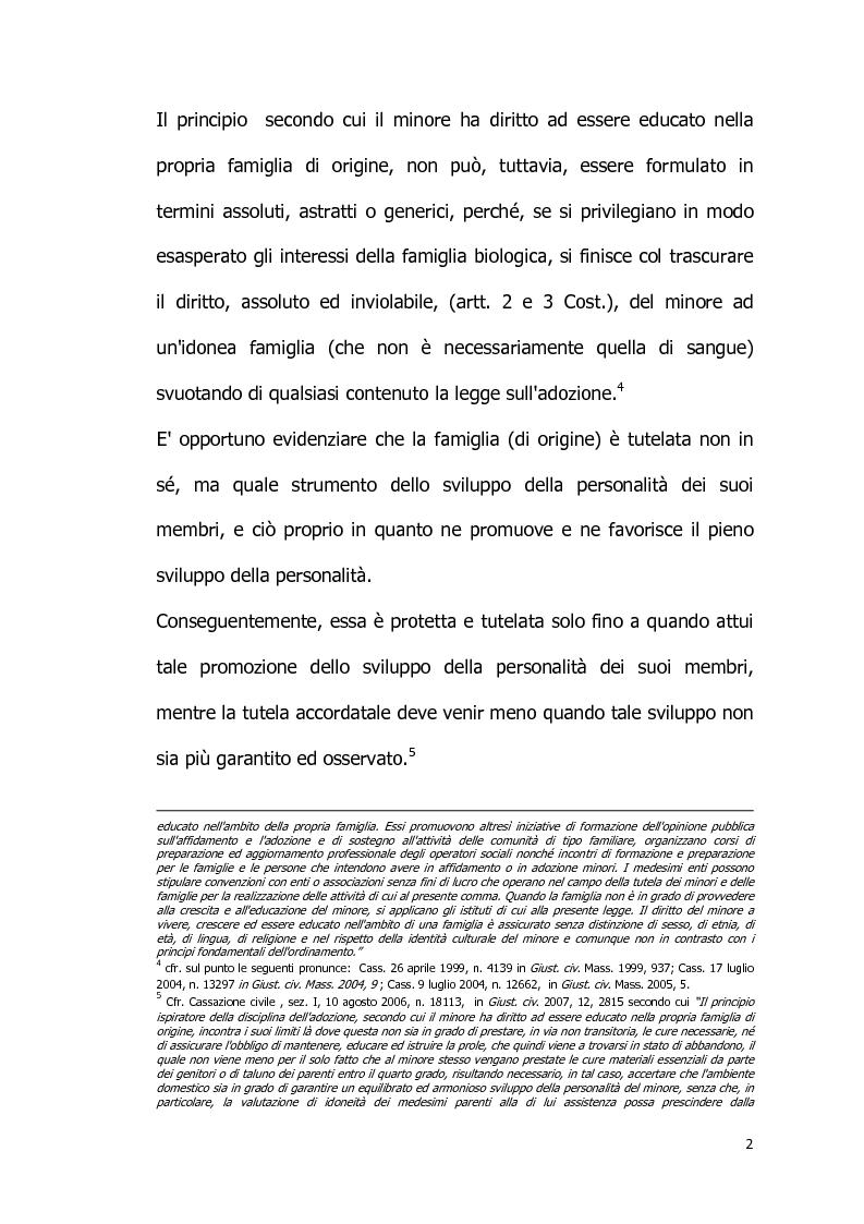 Anteprima della tesi: Il diritto all'identità personale: l'accesso alle informazioni genetiche ed il principio di veridicità degli atti dello stato civile., Pagina 3