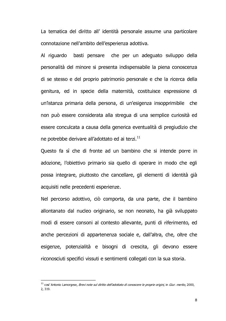 Anteprima della tesi: Il diritto all'identità personale: l'accesso alle informazioni genetiche ed il principio di veridicità degli atti dello stato civile., Pagina 9