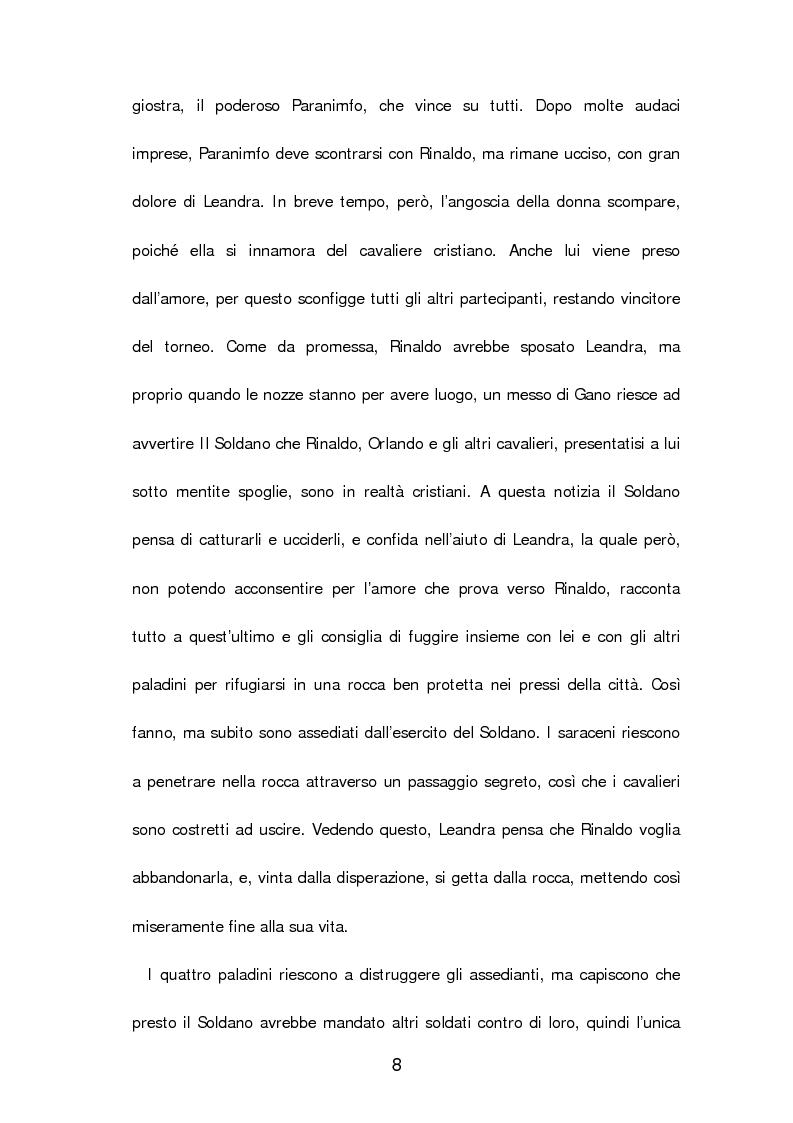 Anteprima della tesi: Un poema cavalleresco in sesta rima: Il libro d'arme e d'amore chiamato ''Leandra'' di Pietro Durante da Gualdo, Pagina 10