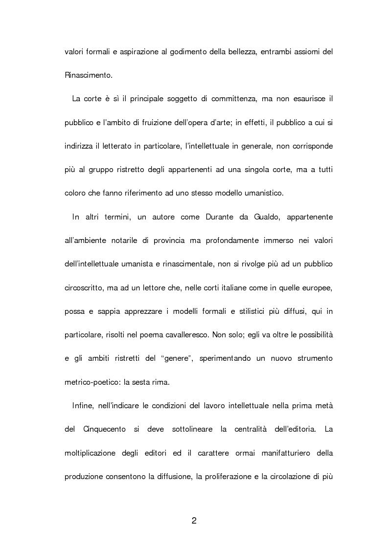 Anteprima della tesi: Un poema cavalleresco in sesta rima: Il libro d'arme e d'amore chiamato ''Leandra'' di Pietro Durante da Gualdo, Pagina 4