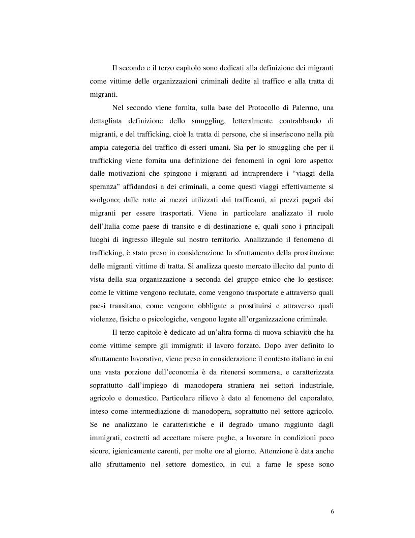 Anteprima della tesi: Criminalità organizzata e immigrazione, Pagina 4