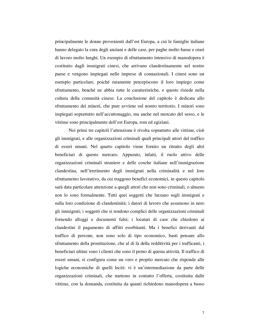 Anteprima della tesi: Criminalità organizzata e immigrazione, Pagina 5