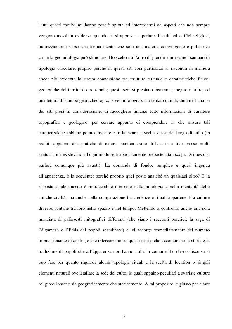 Anteprima della tesi: Geoarcheologia del santuari mantici, Pagina 3