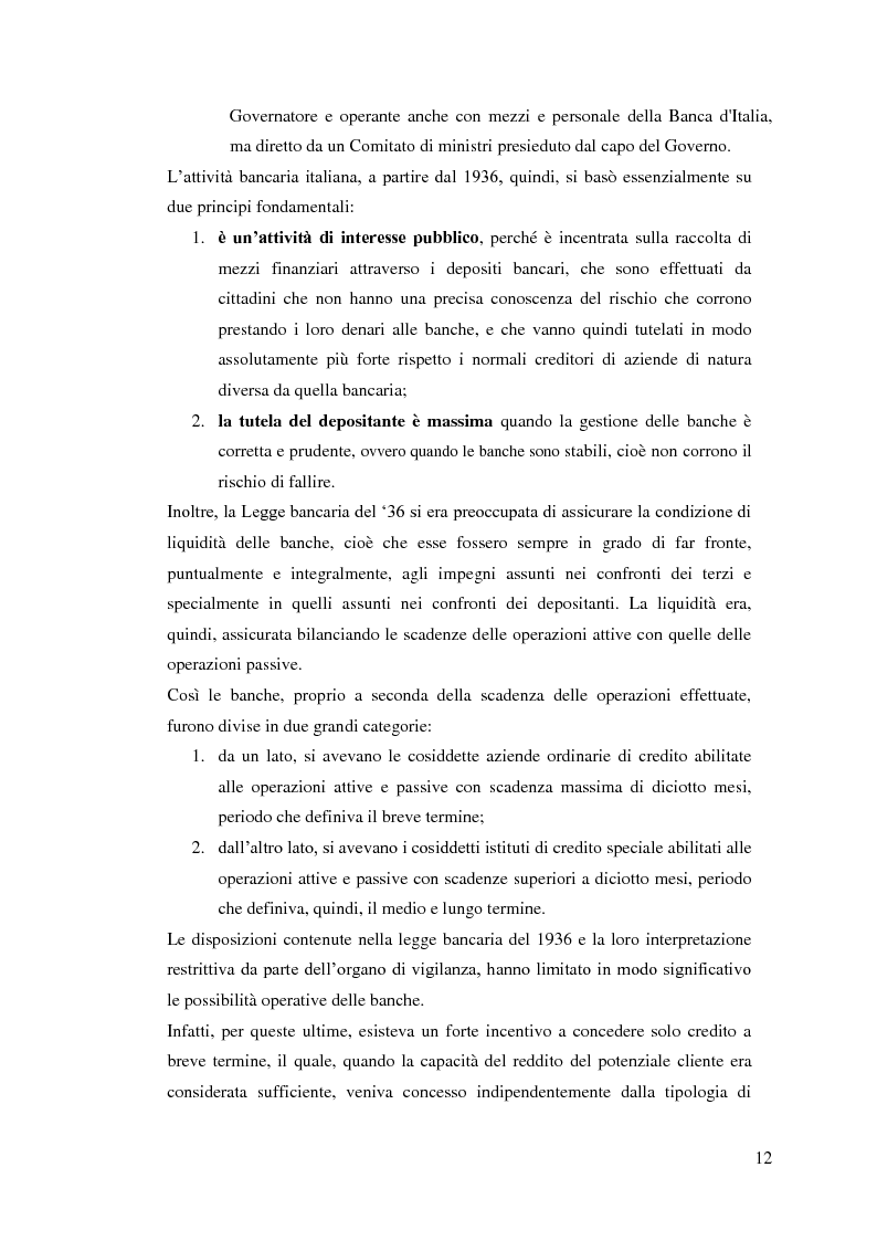 Anteprima della tesi: Il rapporto Banca e Impresa nel merito creditizio secondo i Principi di Basilea 2, Pagina 10