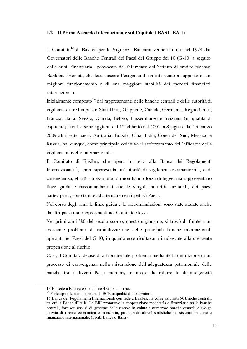 Anteprima della tesi: Il rapporto Banca e Impresa nel merito creditizio secondo i Principi di Basilea 2, Pagina 13
