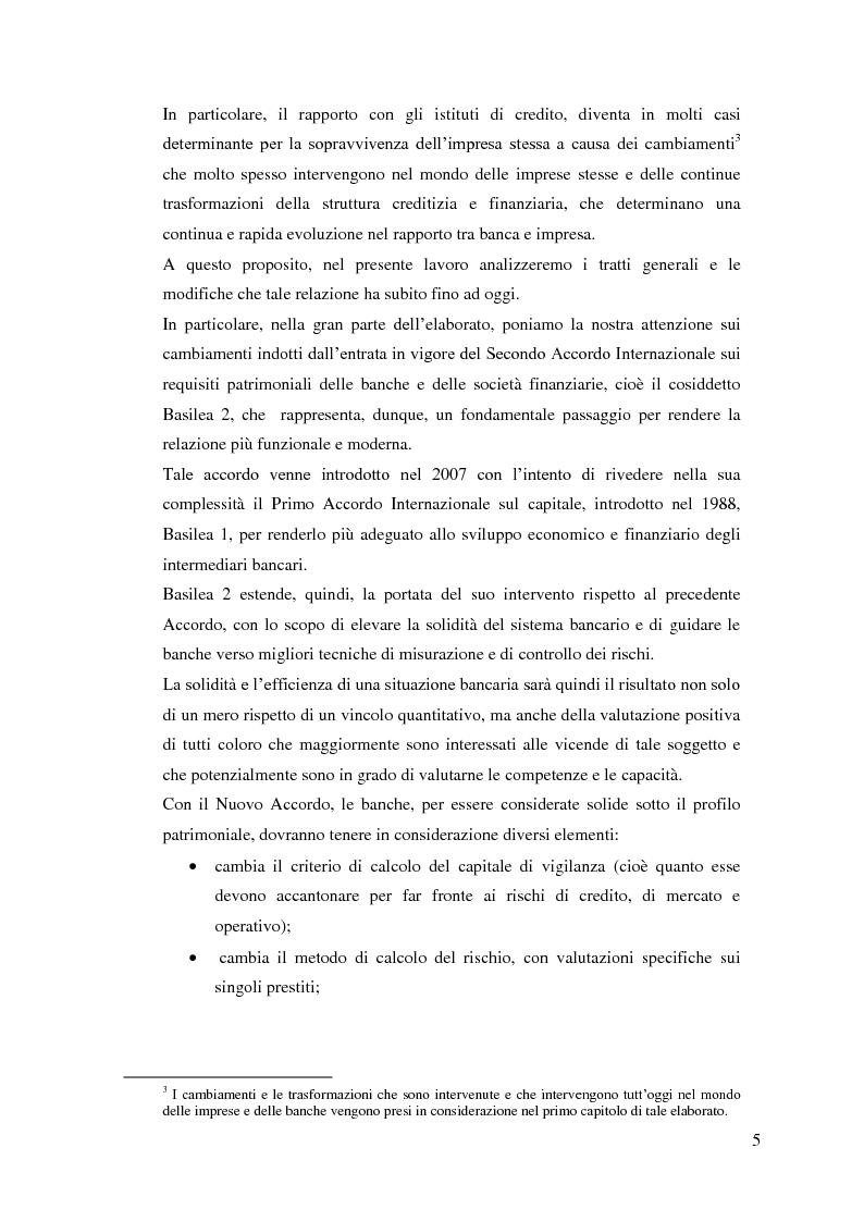Anteprima della tesi: Il rapporto Banca e Impresa nel merito creditizio secondo i Principi di Basilea 2, Pagina 3