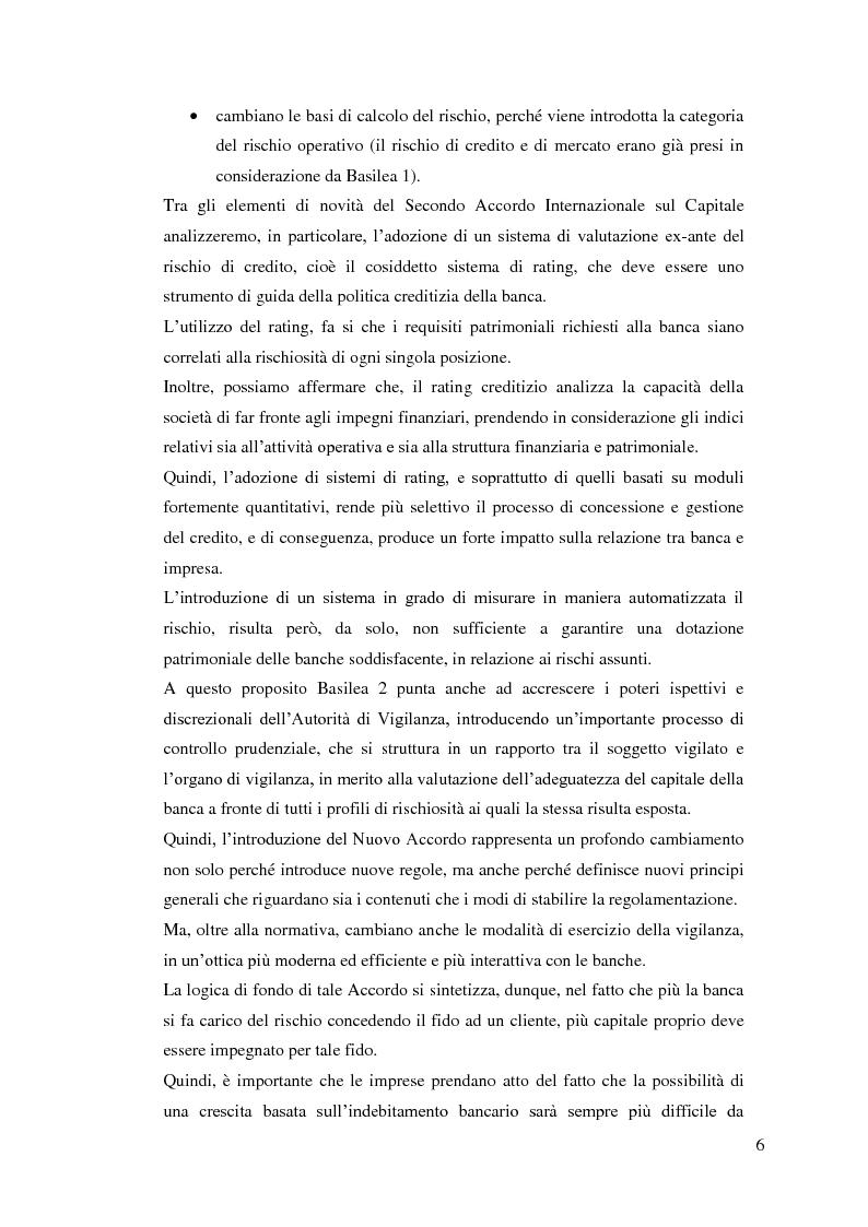 Anteprima della tesi: Il rapporto Banca e Impresa nel merito creditizio secondo i Principi di Basilea 2, Pagina 4