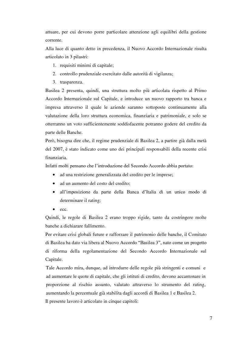 Anteprima della tesi: Il rapporto Banca e Impresa nel merito creditizio secondo i Principi di Basilea 2, Pagina 5