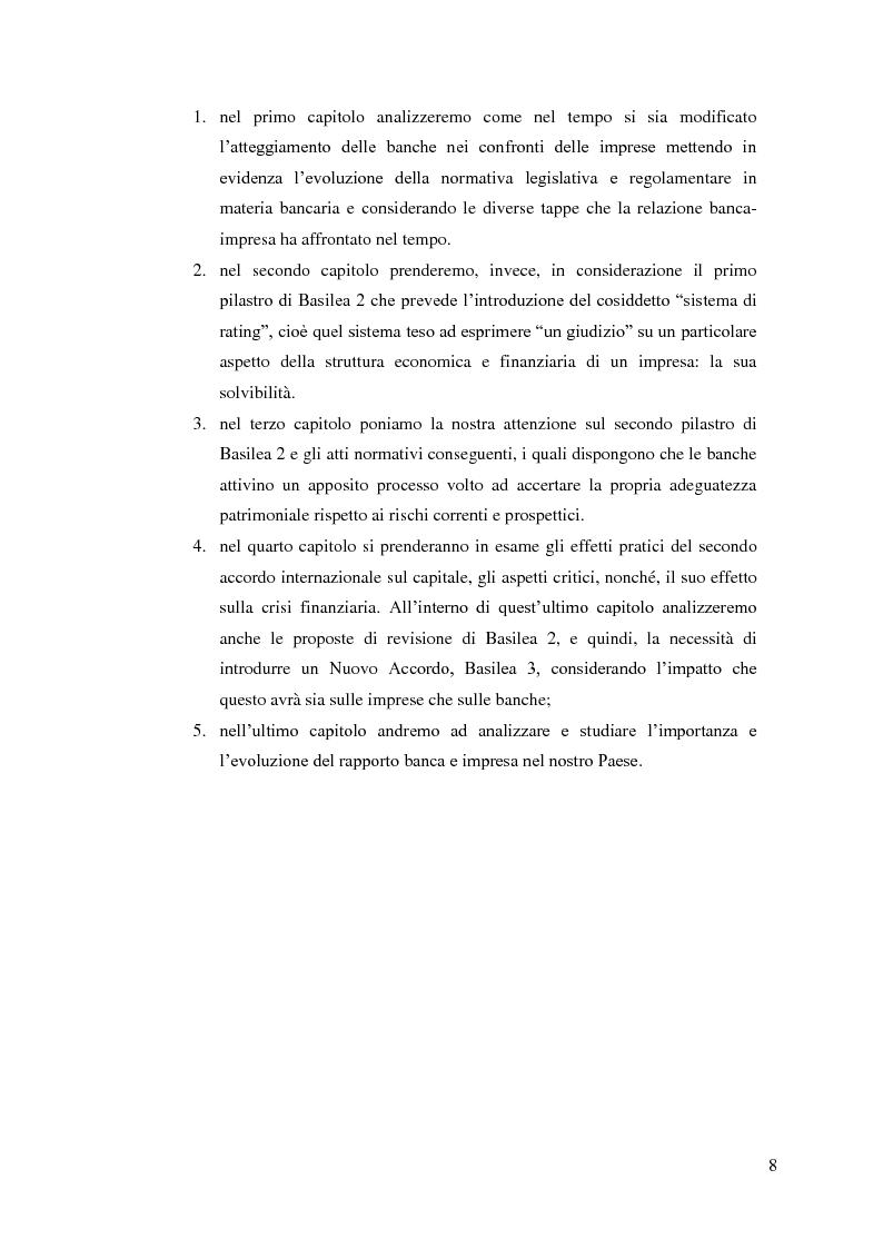 Anteprima della tesi: Il rapporto Banca e Impresa nel merito creditizio secondo i Principi di Basilea 2, Pagina 6