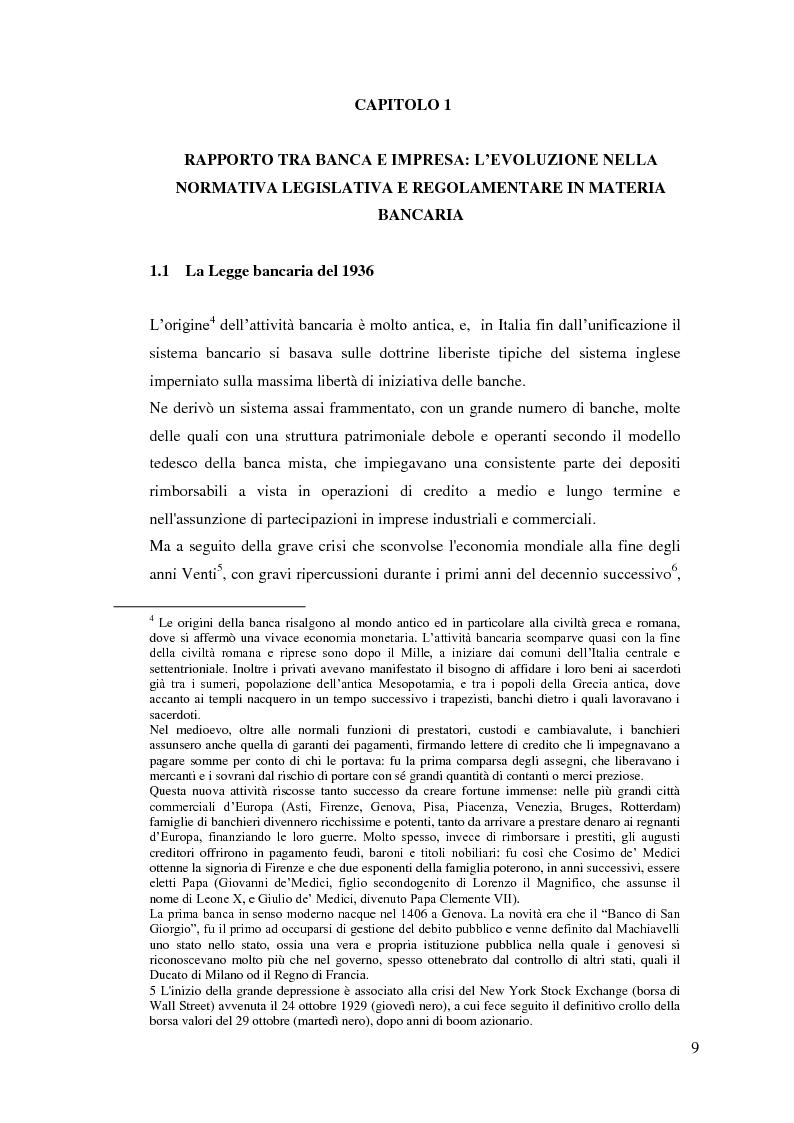Anteprima della tesi: Il rapporto Banca e Impresa nel merito creditizio secondo i Principi di Basilea 2, Pagina 7