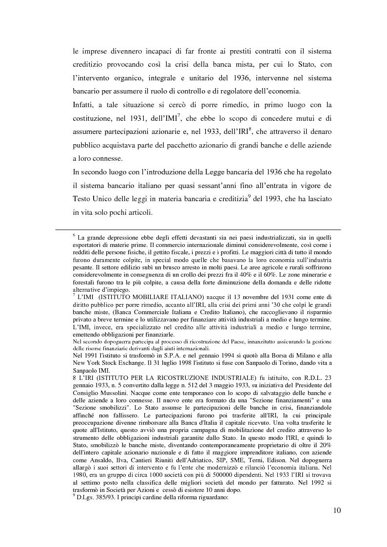 Anteprima della tesi: Il rapporto Banca e Impresa nel merito creditizio secondo i Principi di Basilea 2, Pagina 8
