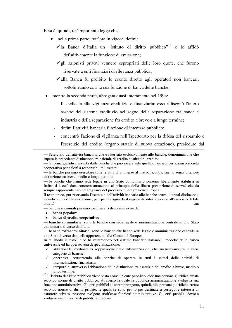 Anteprima della tesi: Il rapporto Banca e Impresa nel merito creditizio secondo i Principi di Basilea 2, Pagina 9