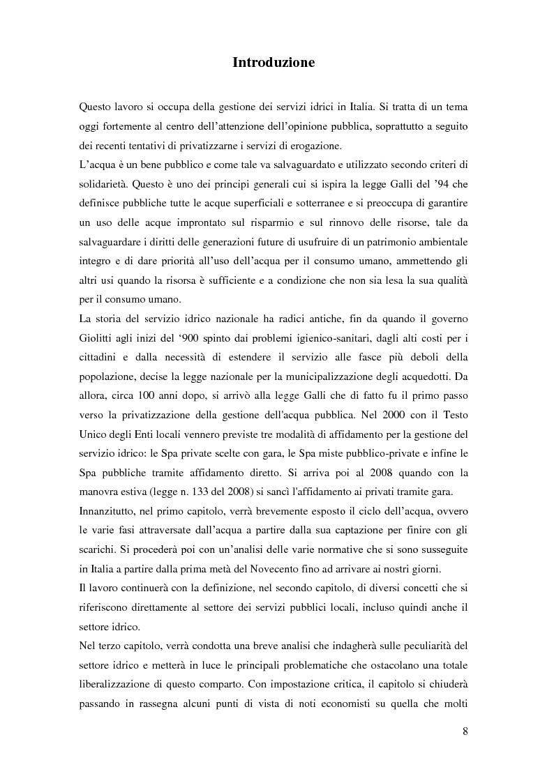 Anteprima della tesi: La gestione dei servizi idrici, Pagina 4