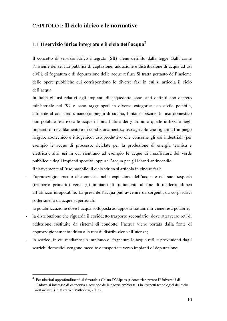 Anteprima della tesi: La gestione dei servizi idrici, Pagina 6
