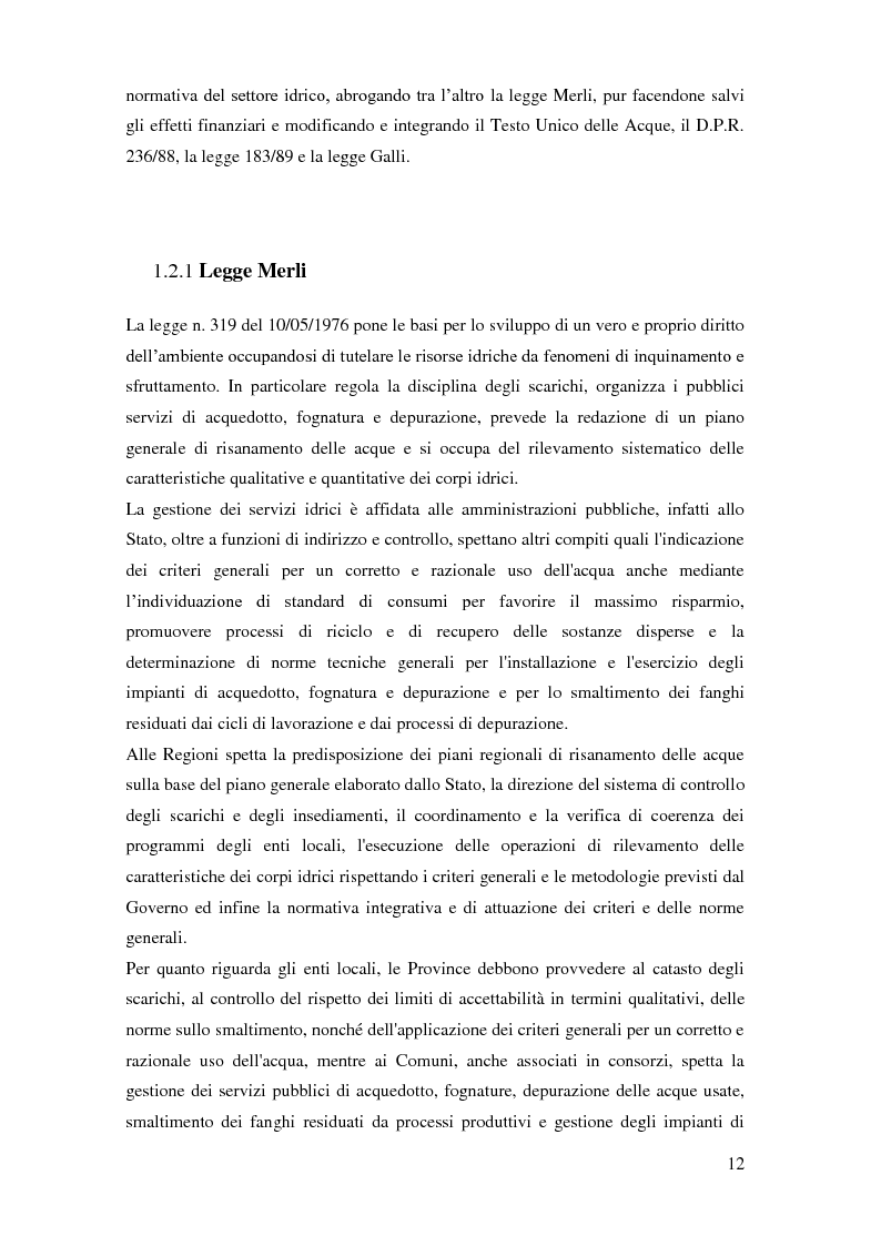 Anteprima della tesi: La gestione dei servizi idrici, Pagina 8
