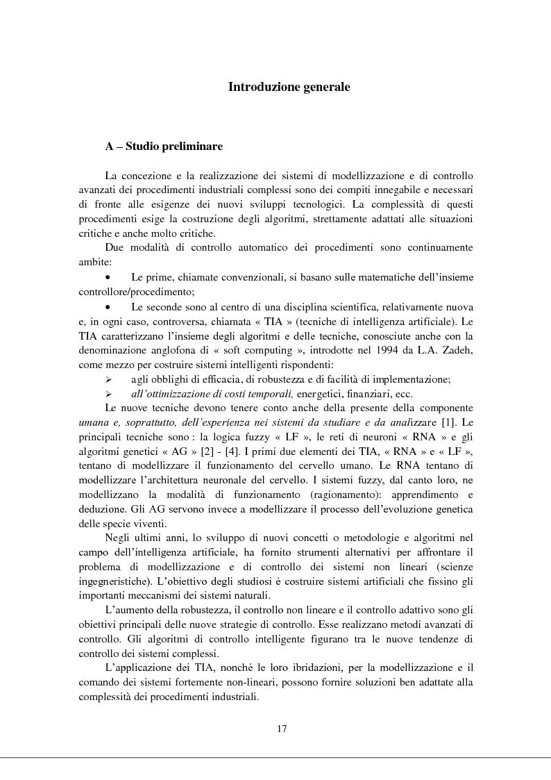 Anteprima della tesi: Modellizzazione & comando dei sistemi industriali complessi per mezzo delle tecniche intelligenti, Pagina 2