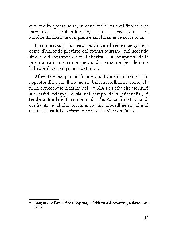 Anteprima della tesi: Identità extracorporee: al di fuori del proprio corpo, Pagina 14