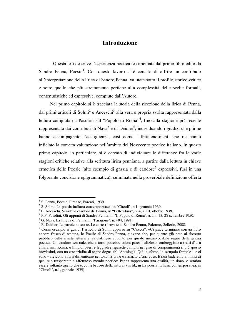 Anteprima della tesi: Iterazione e circolarità nella poesia di Sandro Penna, Pagina 2