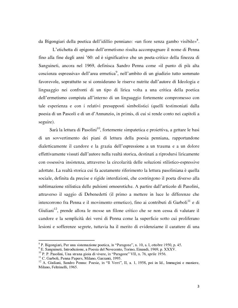 Anteprima della tesi: Iterazione e circolarità nella poesia di Sandro Penna, Pagina 3