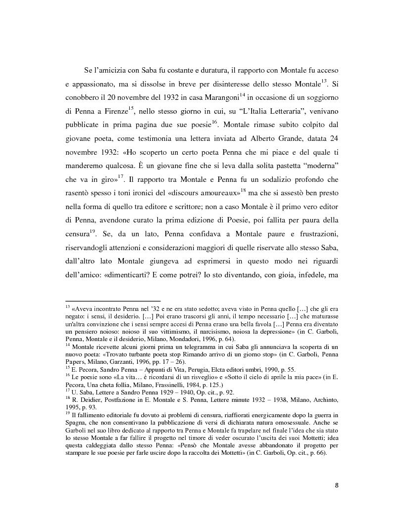Anteprima della tesi: Iterazione e circolarità nella poesia di Sandro Penna, Pagina 8
