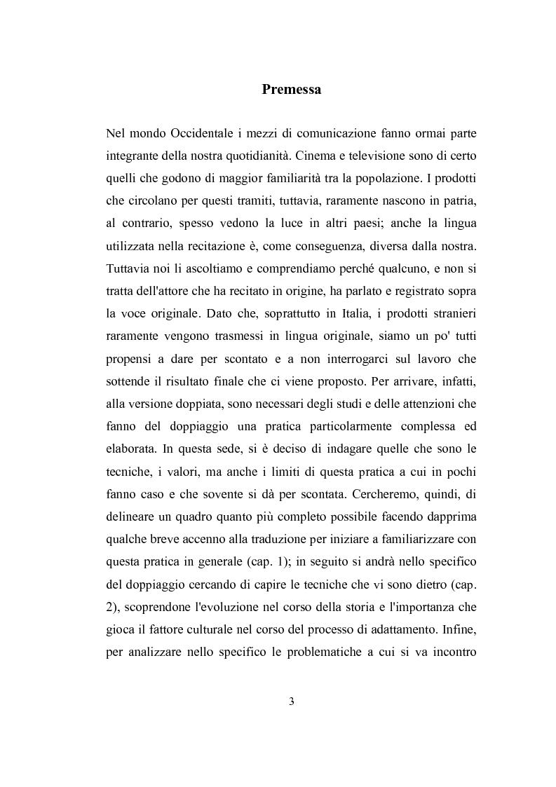 Anteprima della tesi: Parole, immagini e voci: il doppiaggio e la traduzione., Pagina 2