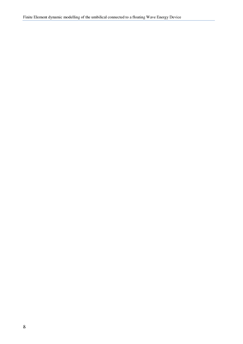 Anteprima della tesi: Modellazione numerica agli Elementi Finiti della dinamica del cavo elettrico di un convertitore di energia ondosa galleggiante, Pagina 7