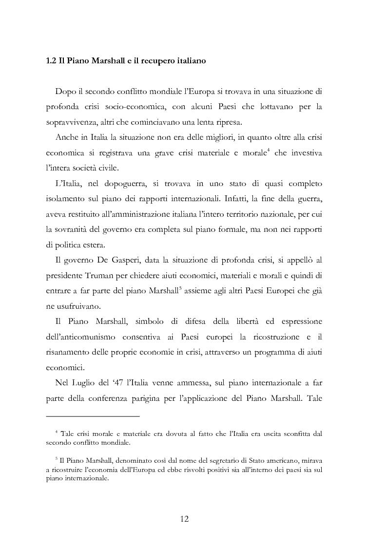 Anteprima della tesi: L'Europa secondo De Gasperi: proposte istituzionali e prospettive teoriche negli anni della ricostruzione, Pagina 11