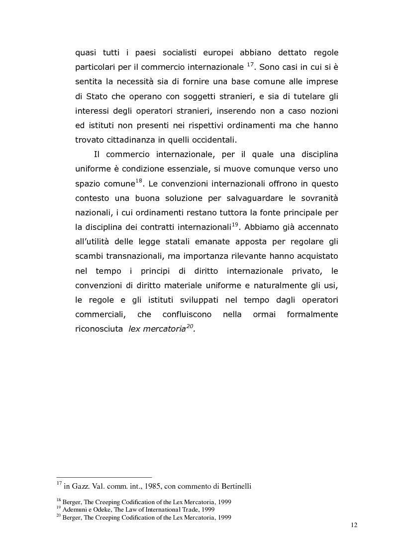 Anteprima della tesi: I Contratti Internazionali: Il Caso Seieffe - Company, Pagina 3