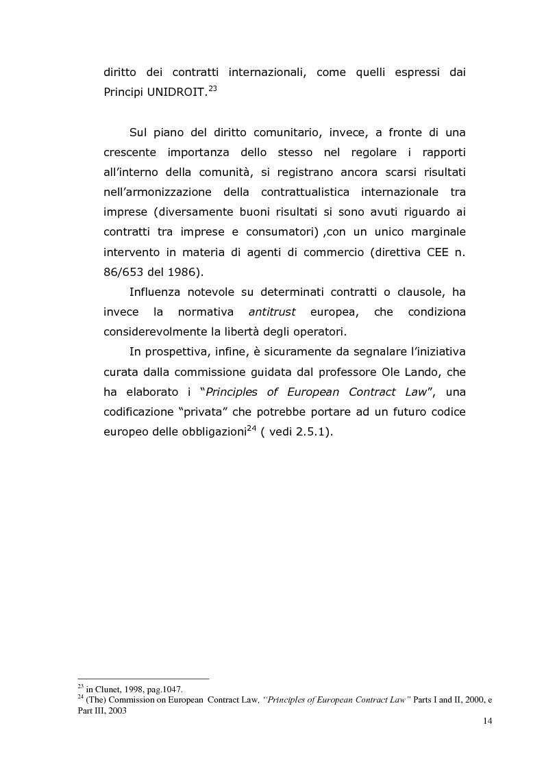 Anteprima della tesi: I Contratti Internazionali: Il Caso Seieffe - Company, Pagina 5